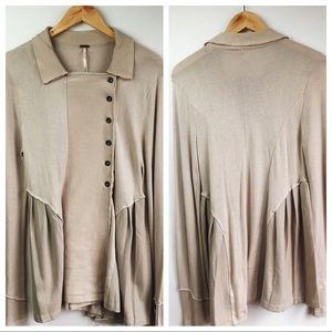 NWOT Free People Button Down Cardigan Sweater